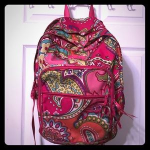 Vera Bradley large back pack and accessories